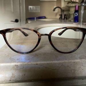 Quay rumor blue light clear lense glasses